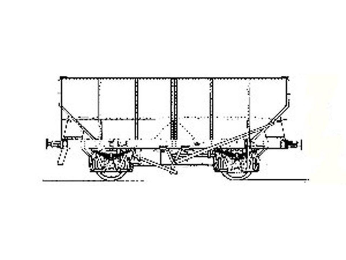 What looks like a works drawing of the LNER Diagram 1/100 21 ton riveted steel  hopper wagon