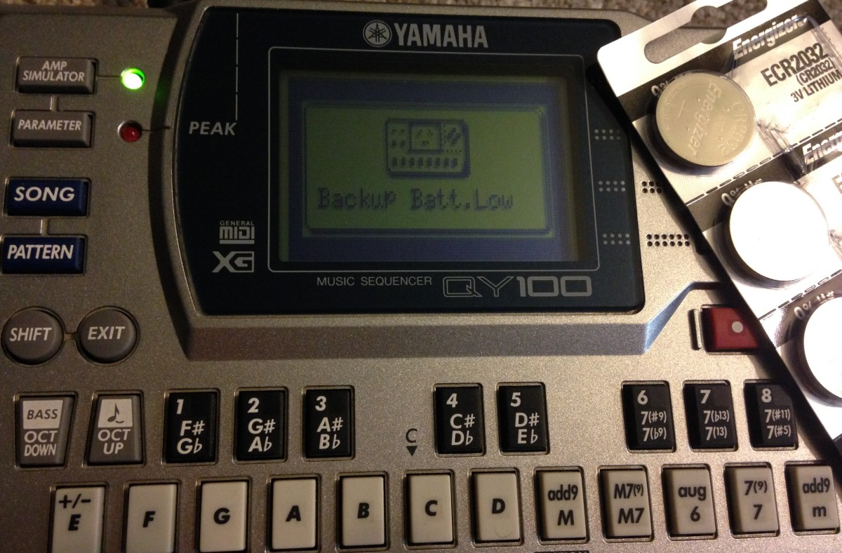 Yamaha QY100 Backup Battery Replacement DIY