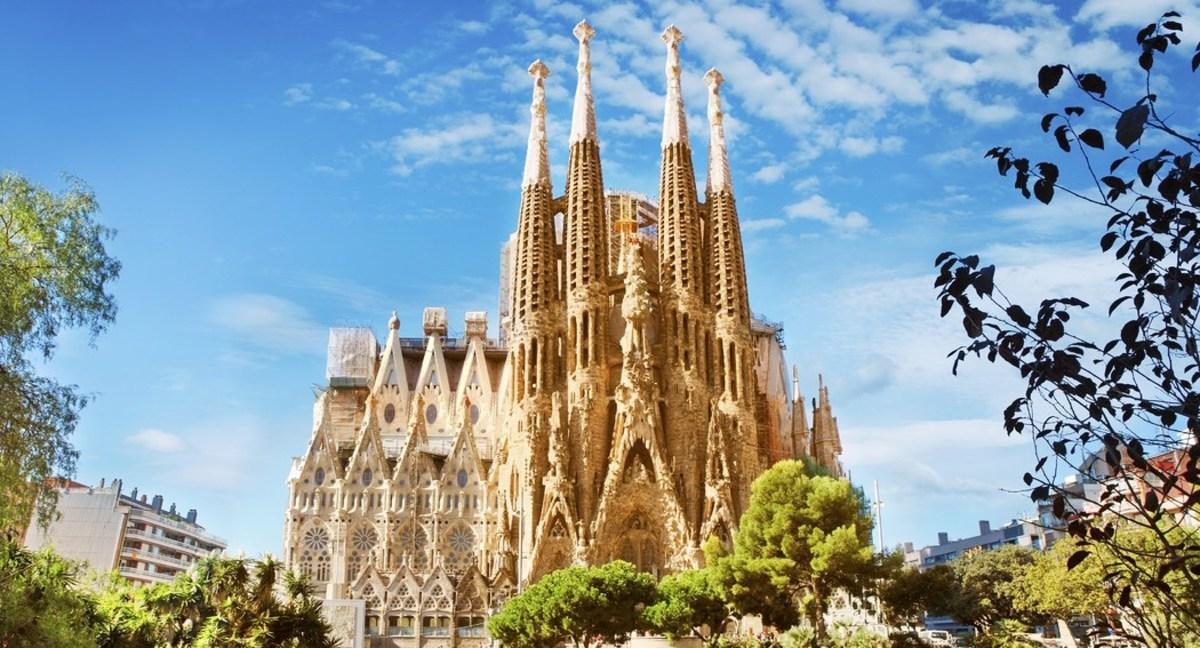 Beautiful view of Sagrada Familia
