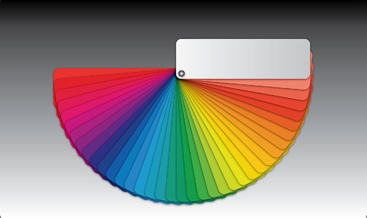 An artist color wheel.