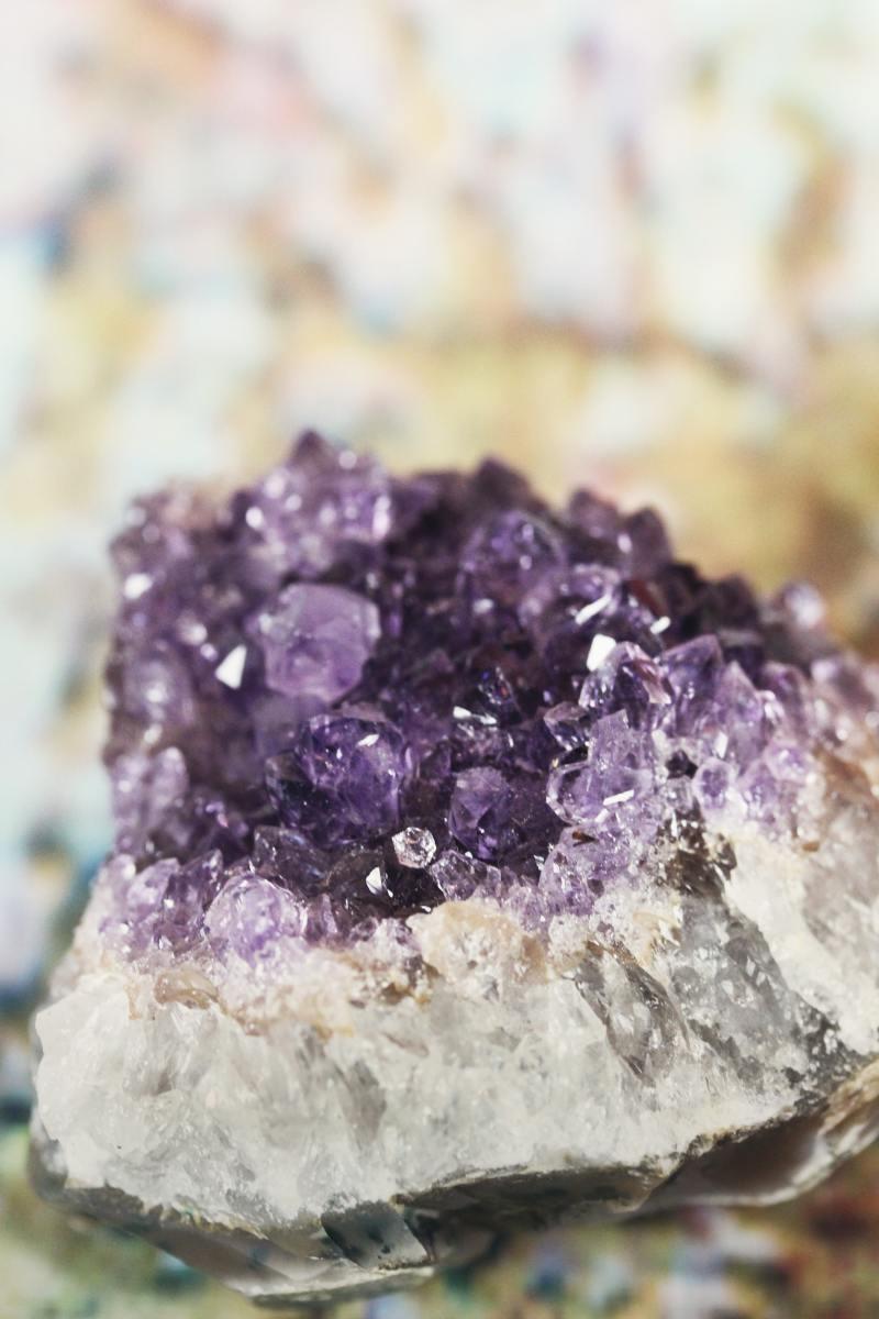 A purple jeode crystal.