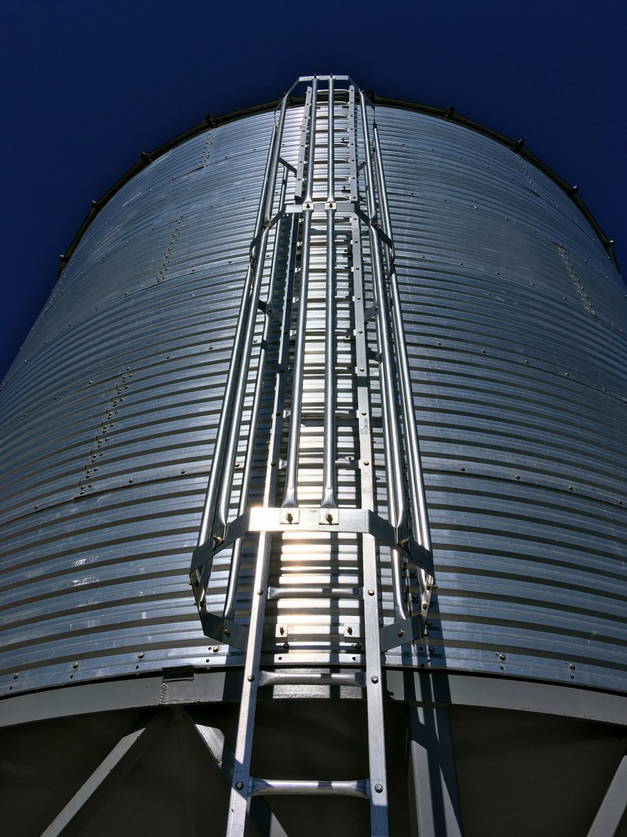 How to Build a Grain Bin Ladder Safety Cage (With Discussion of Safety Concerns, Stairs, and Vintage Methods)