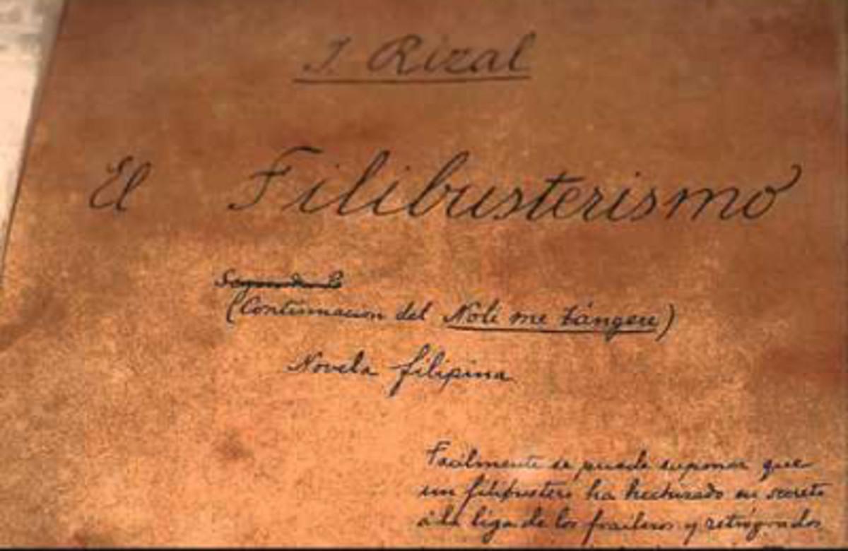 El Filibusterismo's original manuscript.