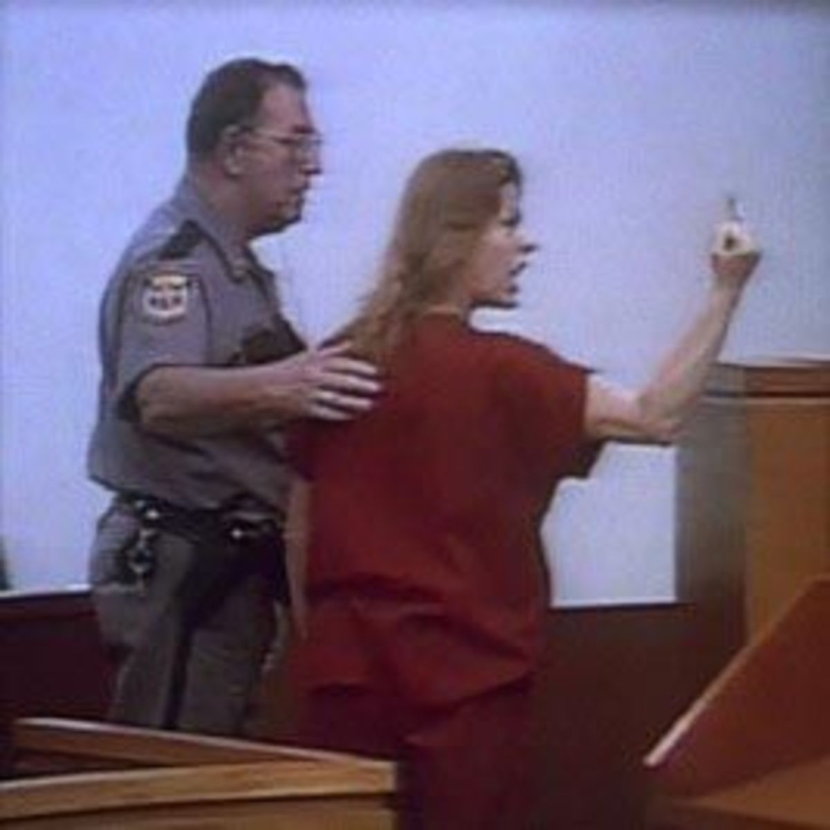 Aileen Wournos was not a happy camper at her trial.