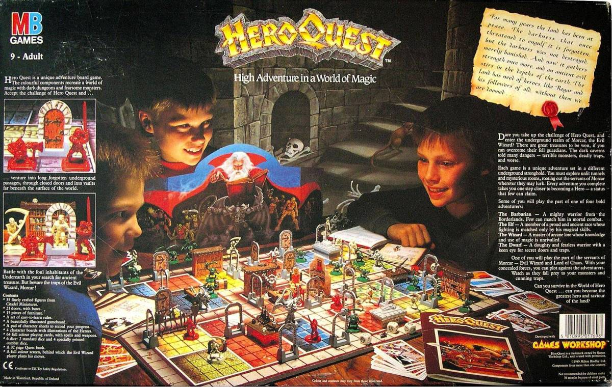 Promotional image (Original HeroQuest box Bottom)