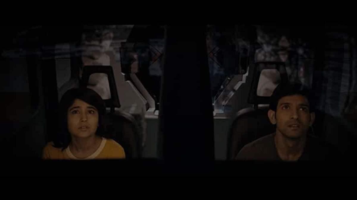 Vikrant Massey and Shweta Tripathi in Cargo.