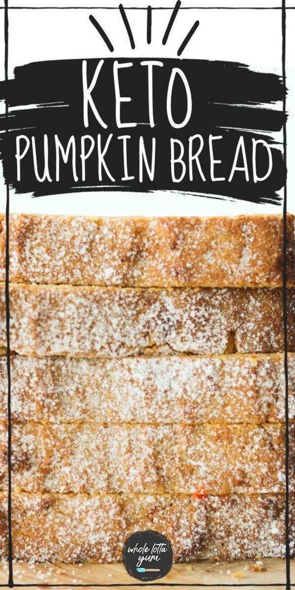 Keto pumpkin bread with cream cheese by wholelottayum.com