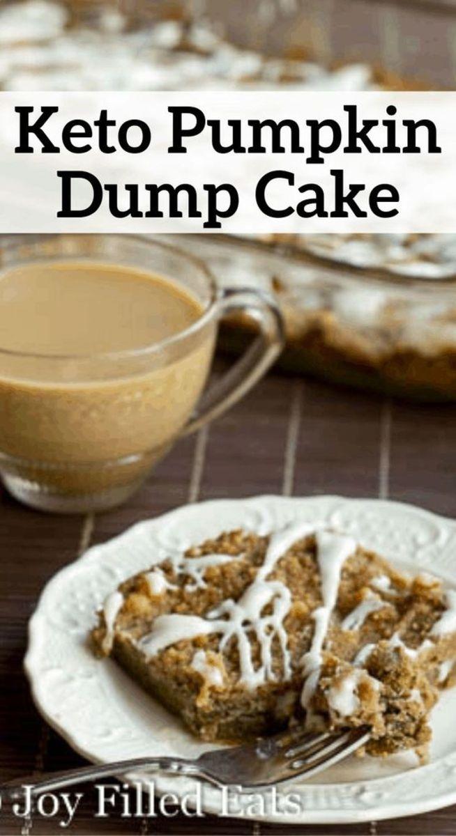 Easy dump cake with the pumpkin pie flavor by joyfilledeats.com