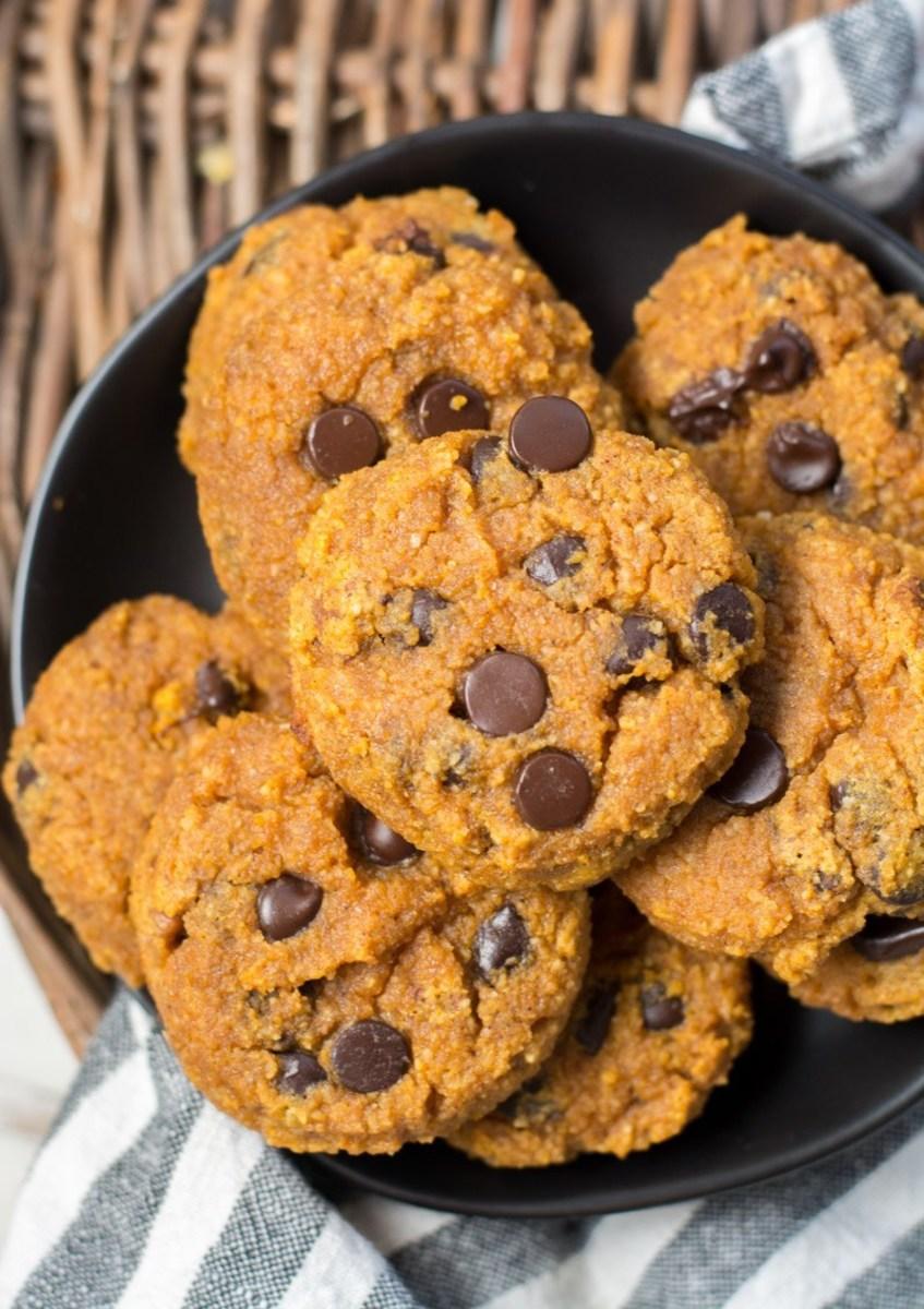 Keto pumpkin chocolate chip cookies by thebestketorecipes.com