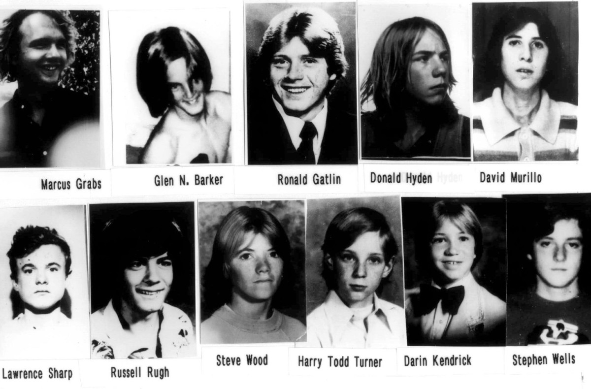 Victims of serial killer William Bonin, known as the Freeway Killer in southern California during the late 70s and early 80s.