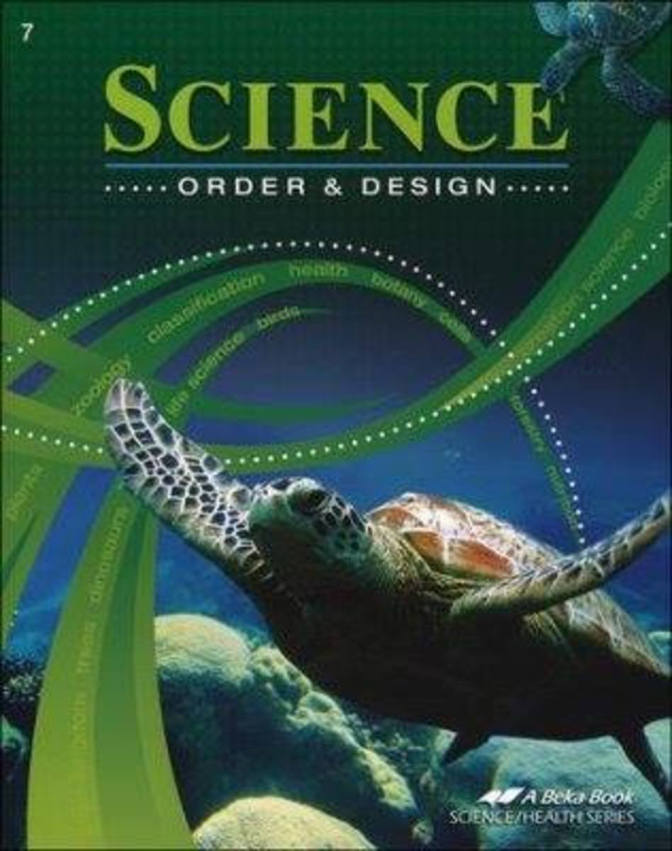 Our class textbook: A Beka: Science: Order & Design