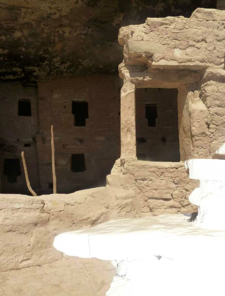 Anasazi ruins in Mesa Verde, Colorado are made from adobe. Though the inhabitants disappeared, their buildings remain surprisingly intact two centuries later.