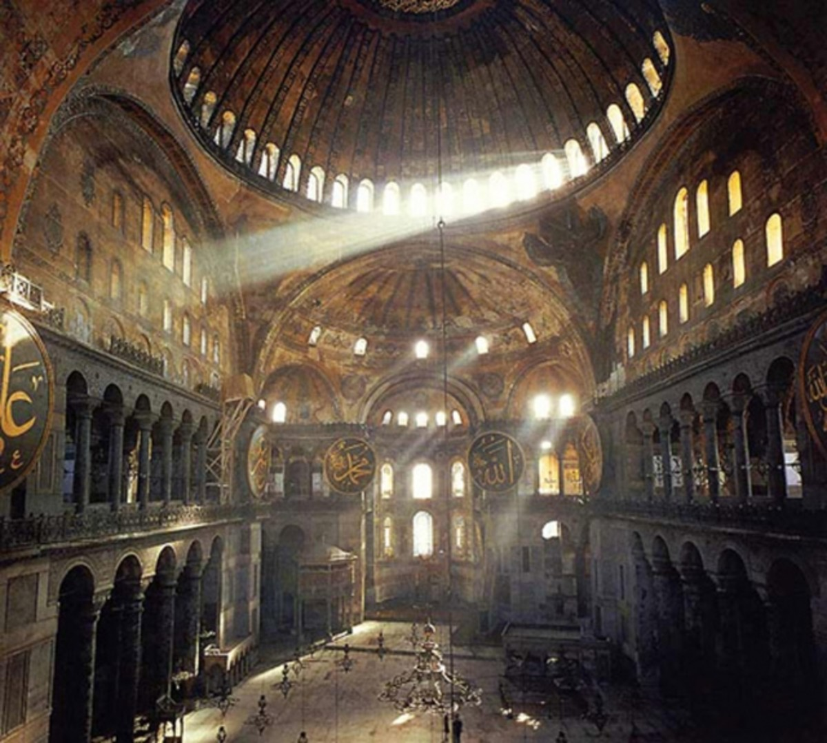 INTERIOR OF HAGIA SOFIA TODAY