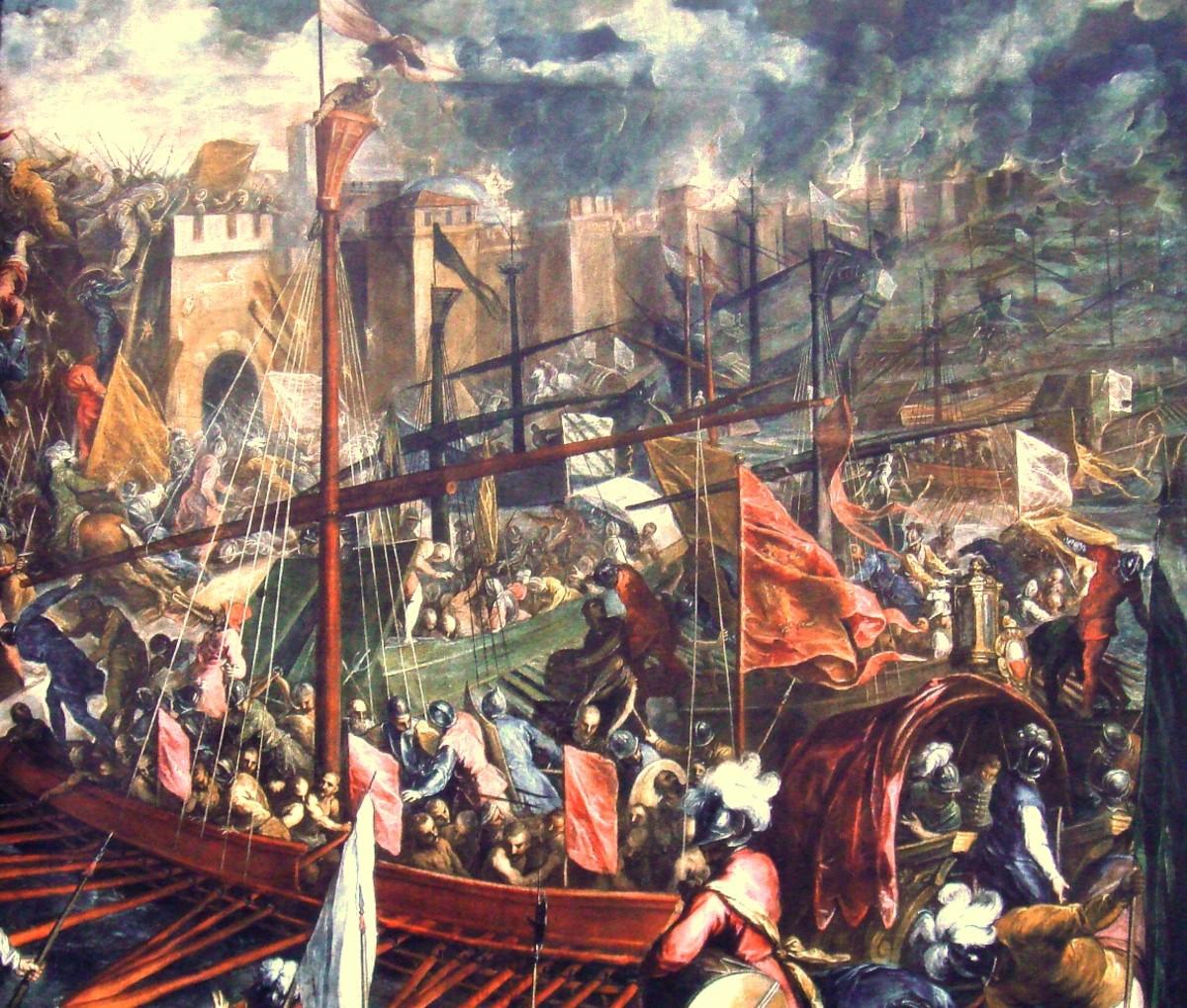 VENETIANS SACK CONSTANTINOPLE IN 1204