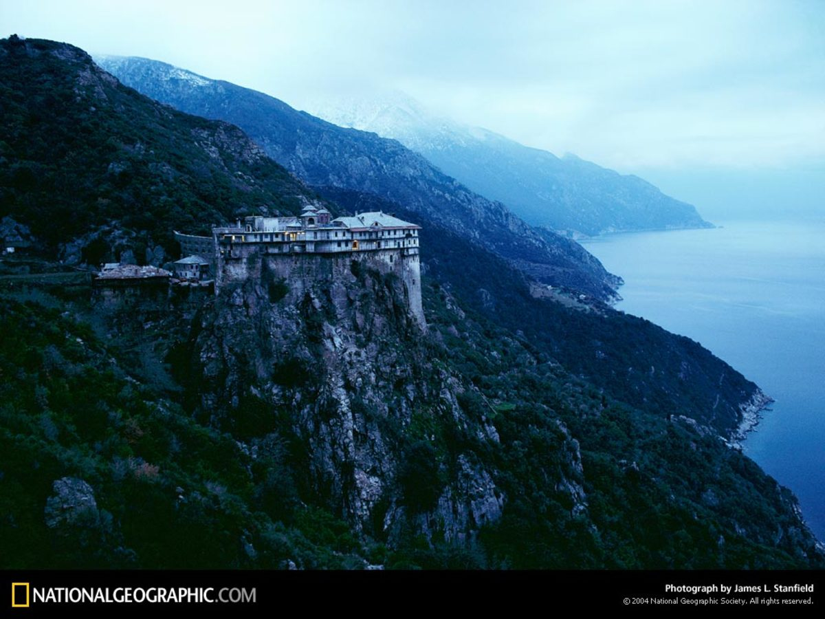 SIMONOPETRA ORTHODOX MONASTERY AT MOUNT ATHOS GREECE TODAY