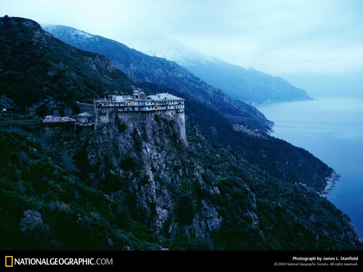 SIMONOPETRA ORTHODOX MONASTERY AT MOUNT ATHOS GREECE TODAY