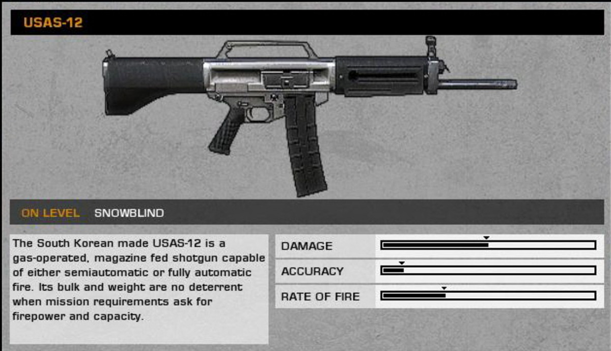 Snowblind: USAS-12 collectible / collectable.