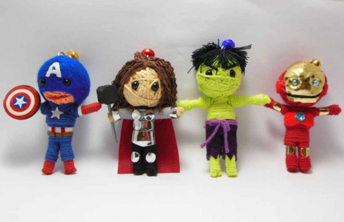Superhero voodoo dolls