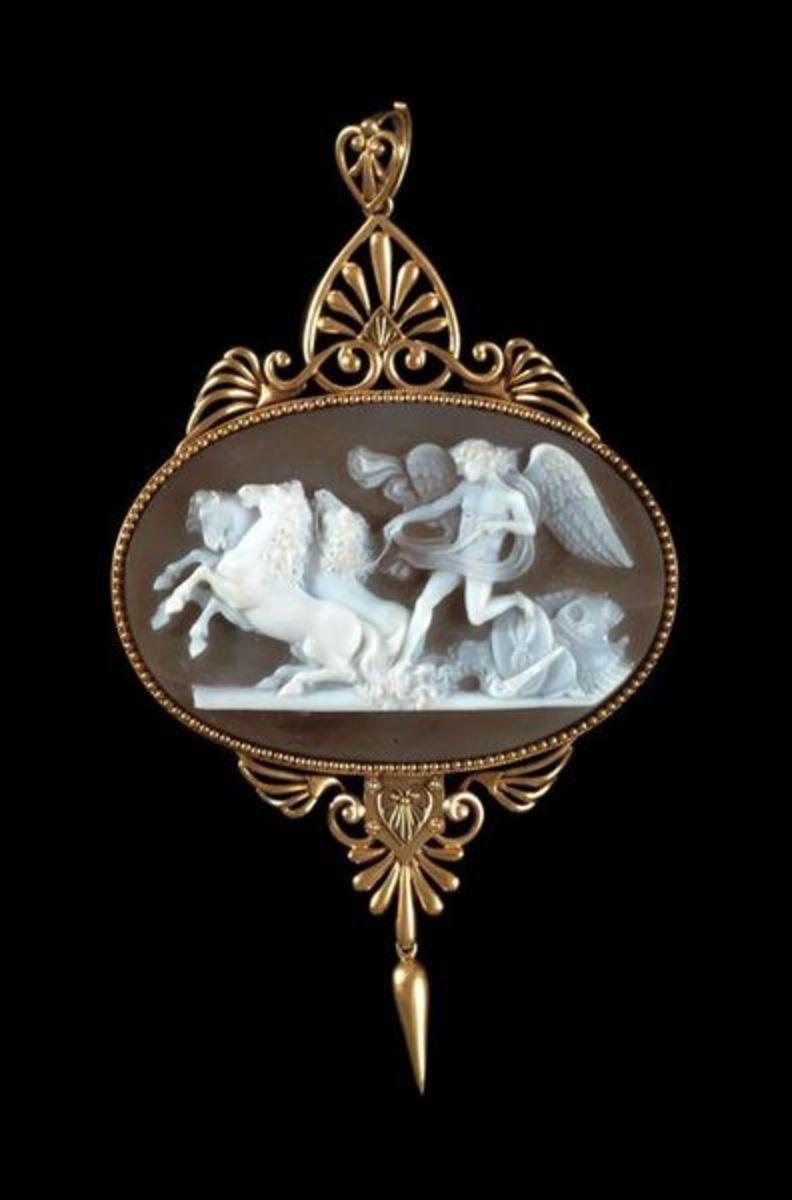 Cameo carved by Luigi Saulini and set by John Brogden circa 1880