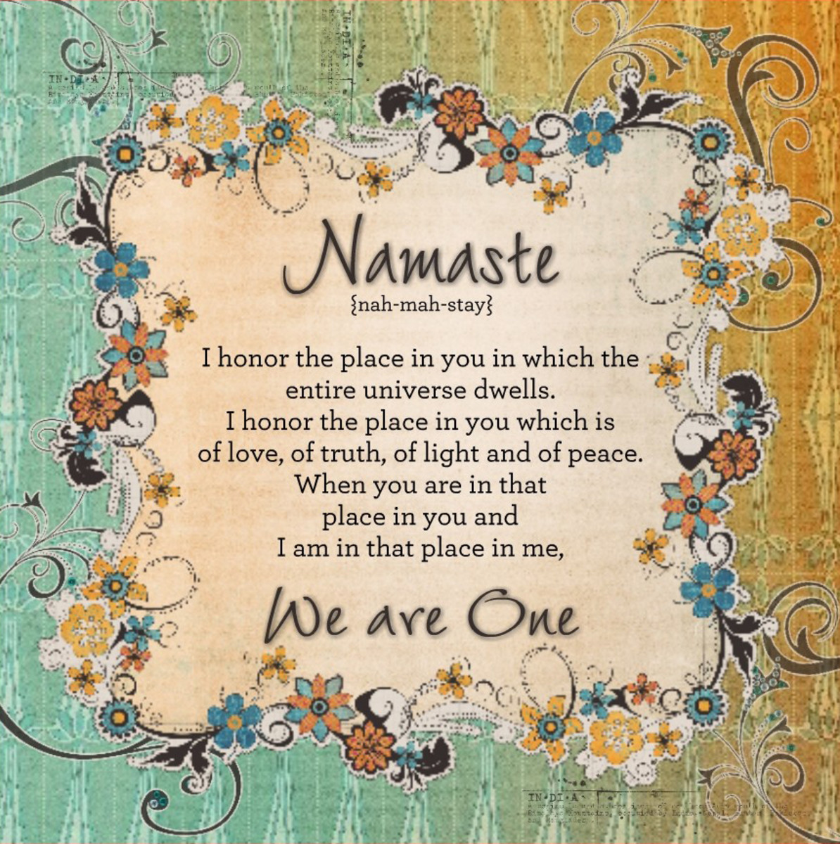 Namaste... God Bless You