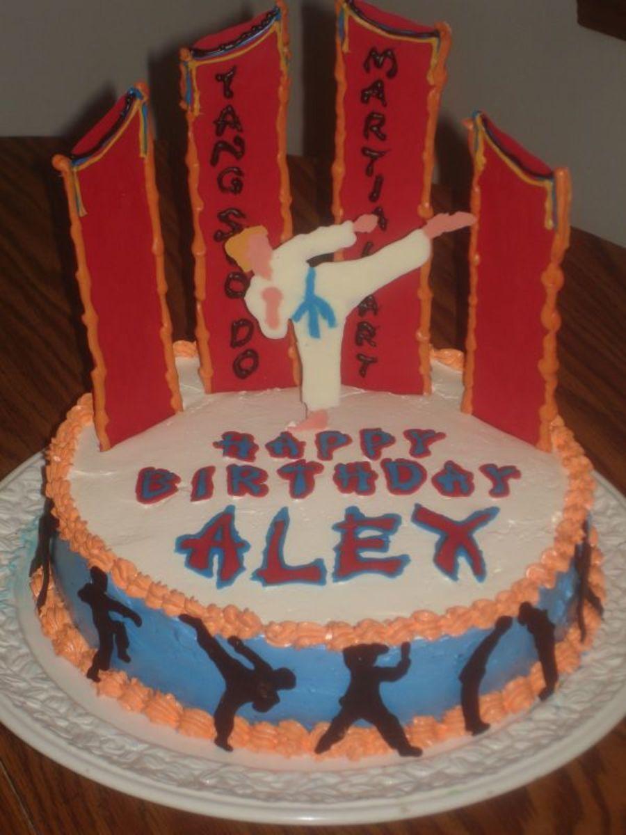 Karate Birthday Cakes and Cupcake Ideas