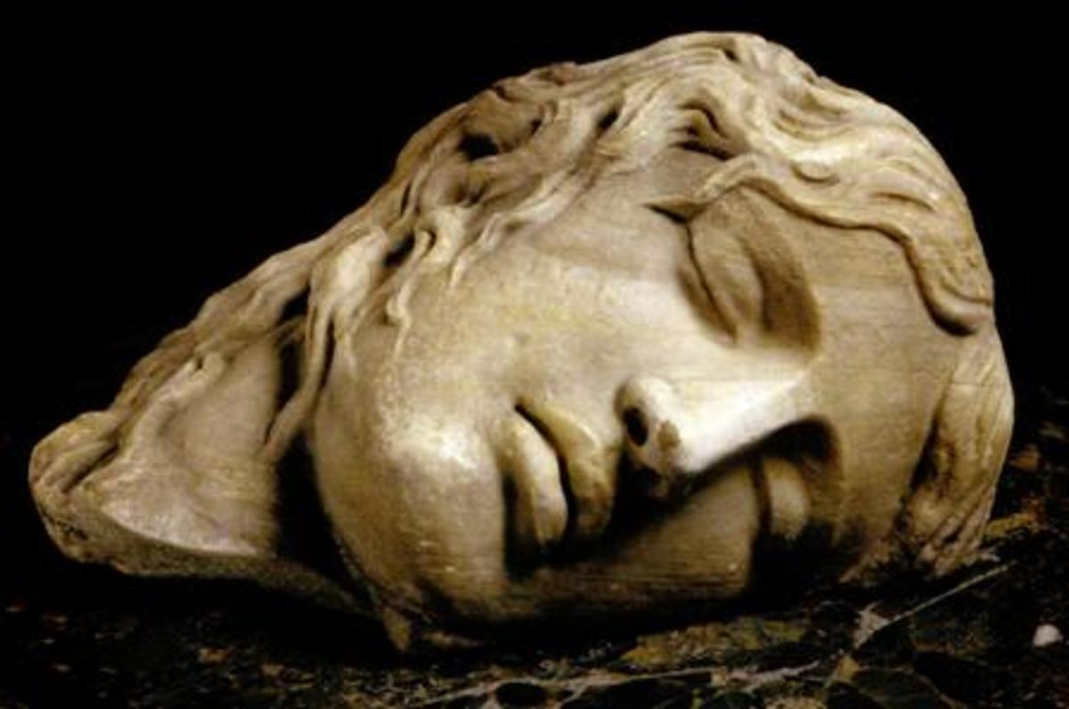 "Sleeping woman's face (known as ""Ludovisi Furies"" from the name of the collector)"