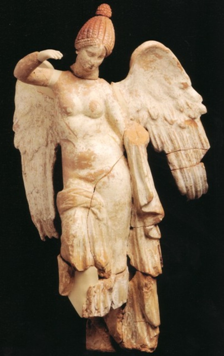 Statuette of a winged woman (Nike or Psyche?)