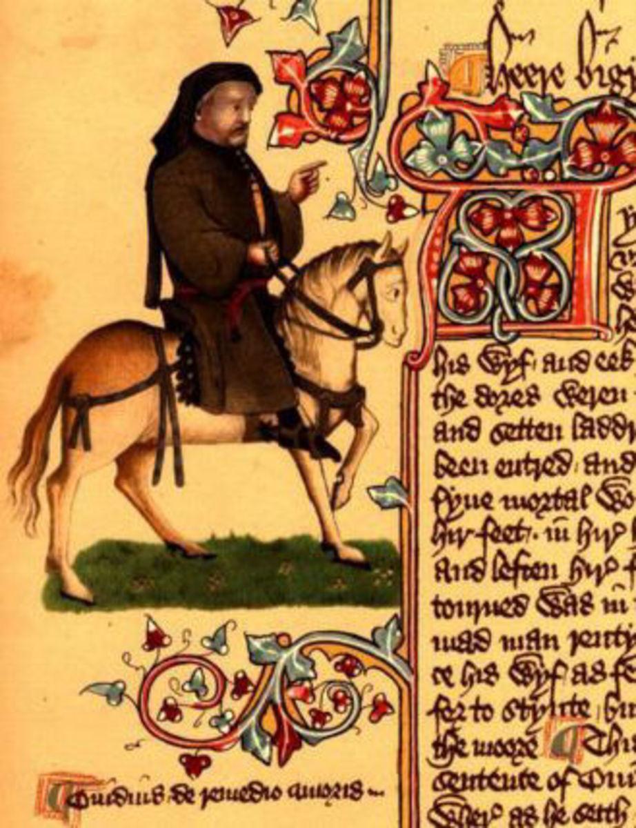 Geoffrey Chaucer. Ellesmere Manuscript. Out of copyright.