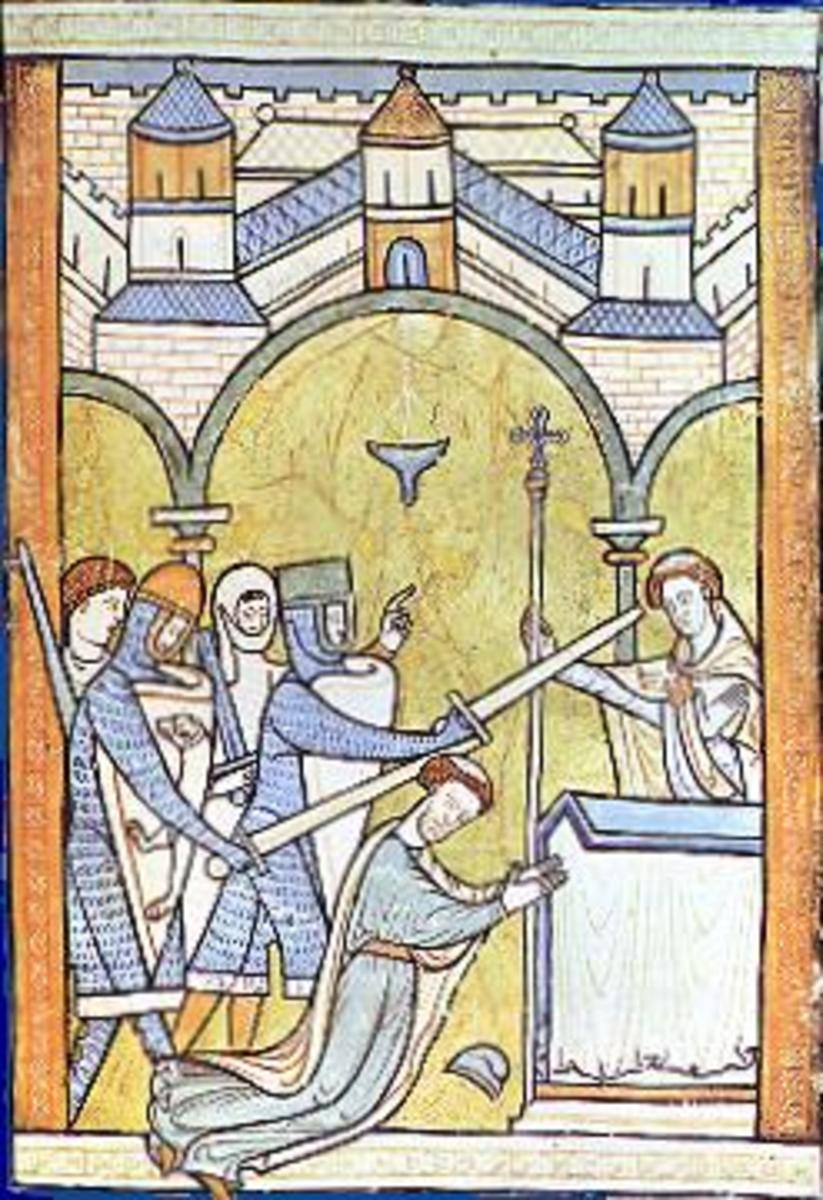 The Murder of Thomas Becket in Canterbury Cathedral