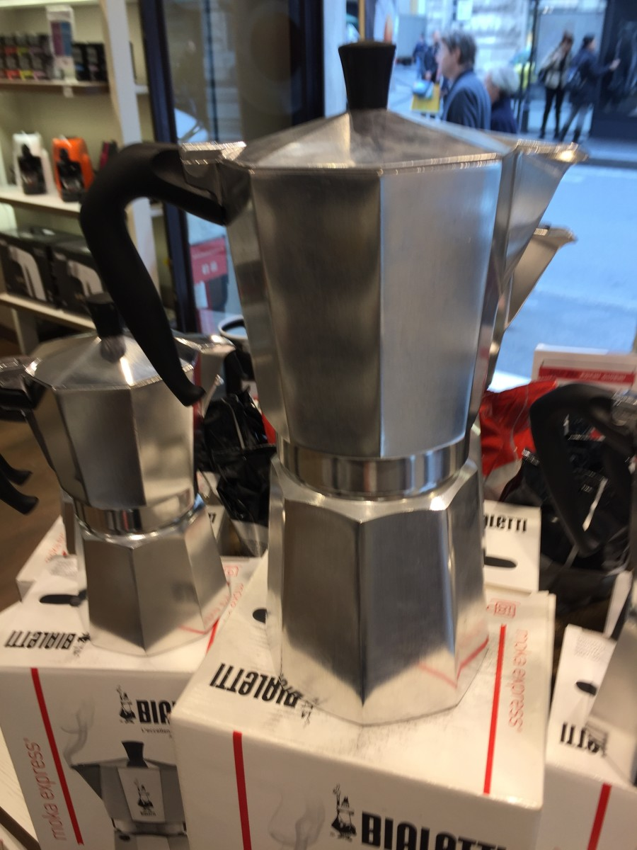 18 Cup on sale in the Bialetti store Rome.