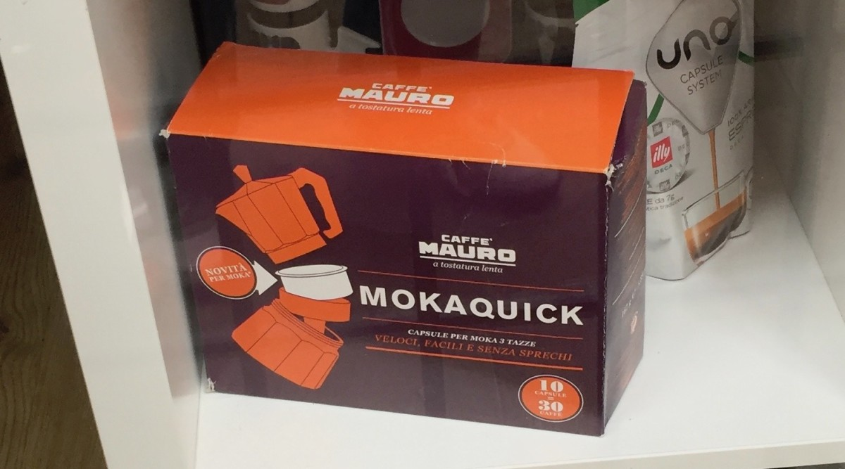 Moka Quick by Caffe Mauro, Coffee in capsules.