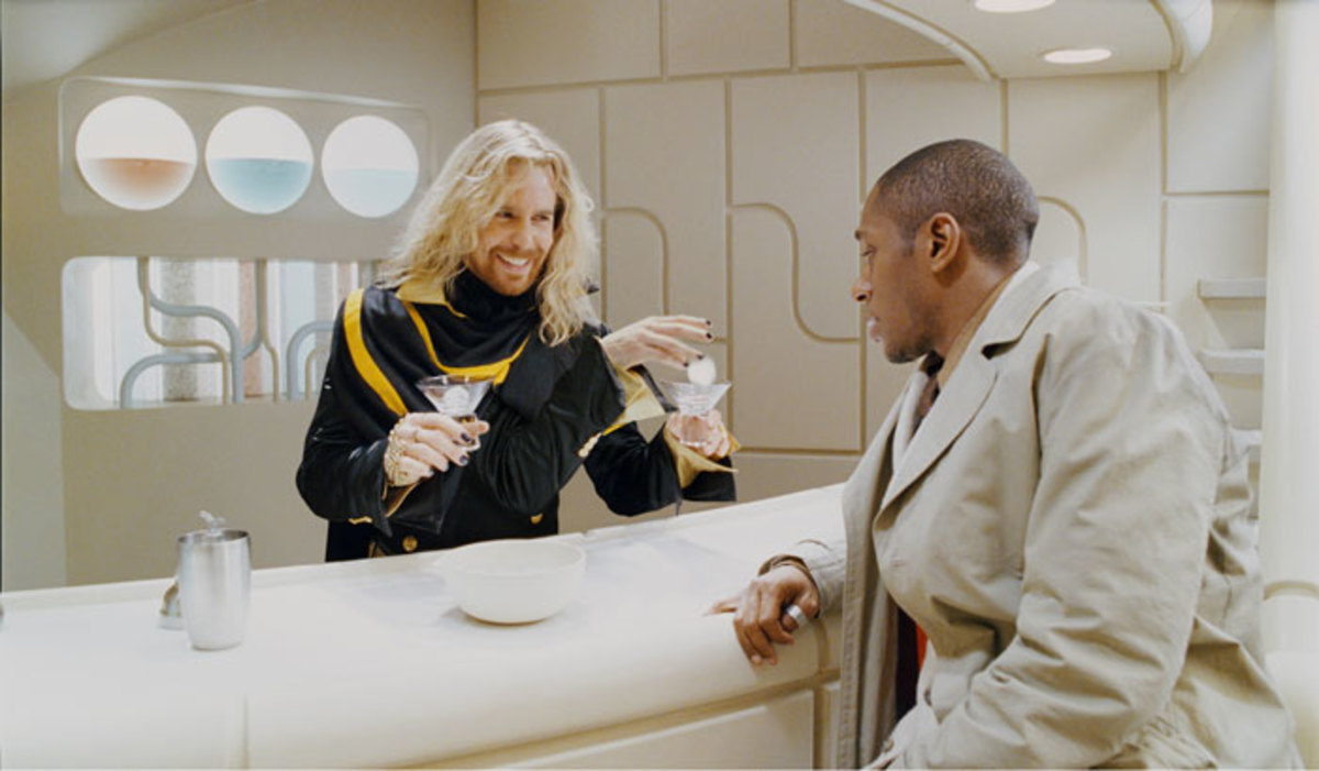 Science Officer PI 3.1417hub1417hub, cleverly disguised as a bartender, interviews a local - photo credit: fanpop.com