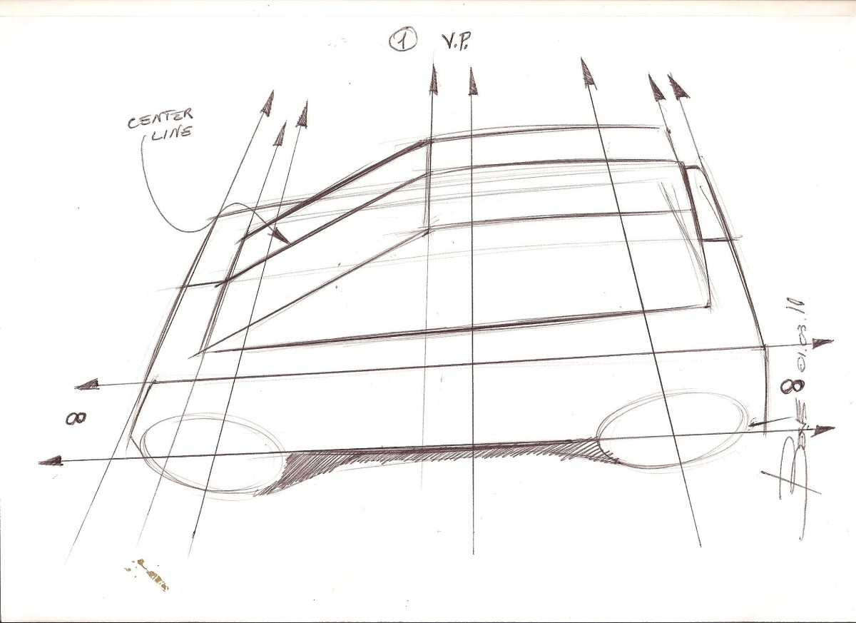 How to Draw a Car in Top View Perspective