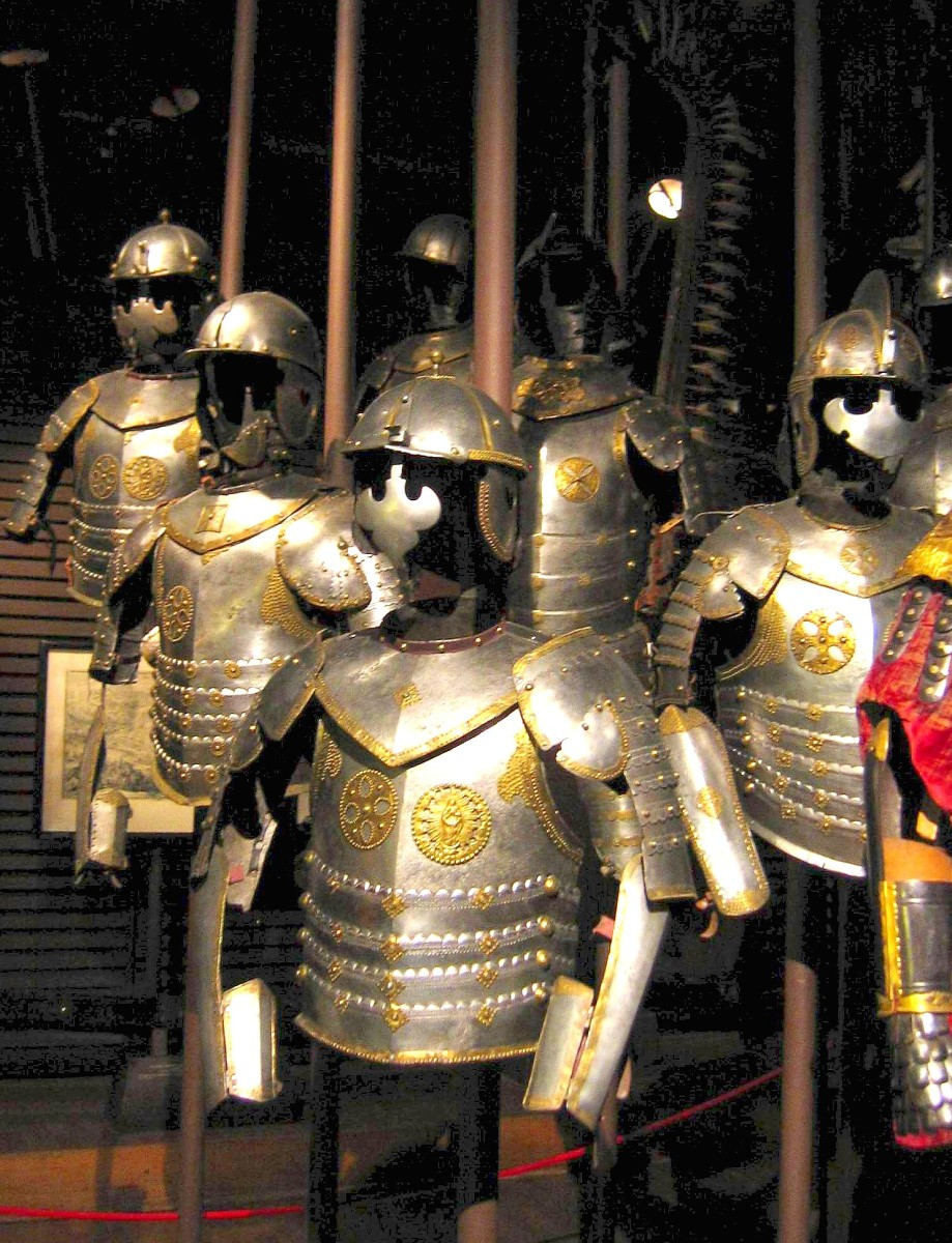 Armor of Zbroje husarskie (Winged Hussars) in the Polish Army Museum, Warsaw
