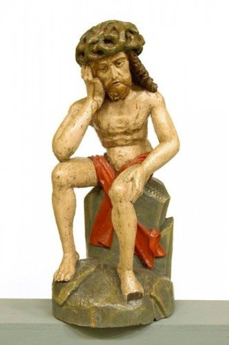 Photo: Christ in Distress, Pomerania, early 16th century, wood with paint; from the study collection of The National Museum in Warsaw