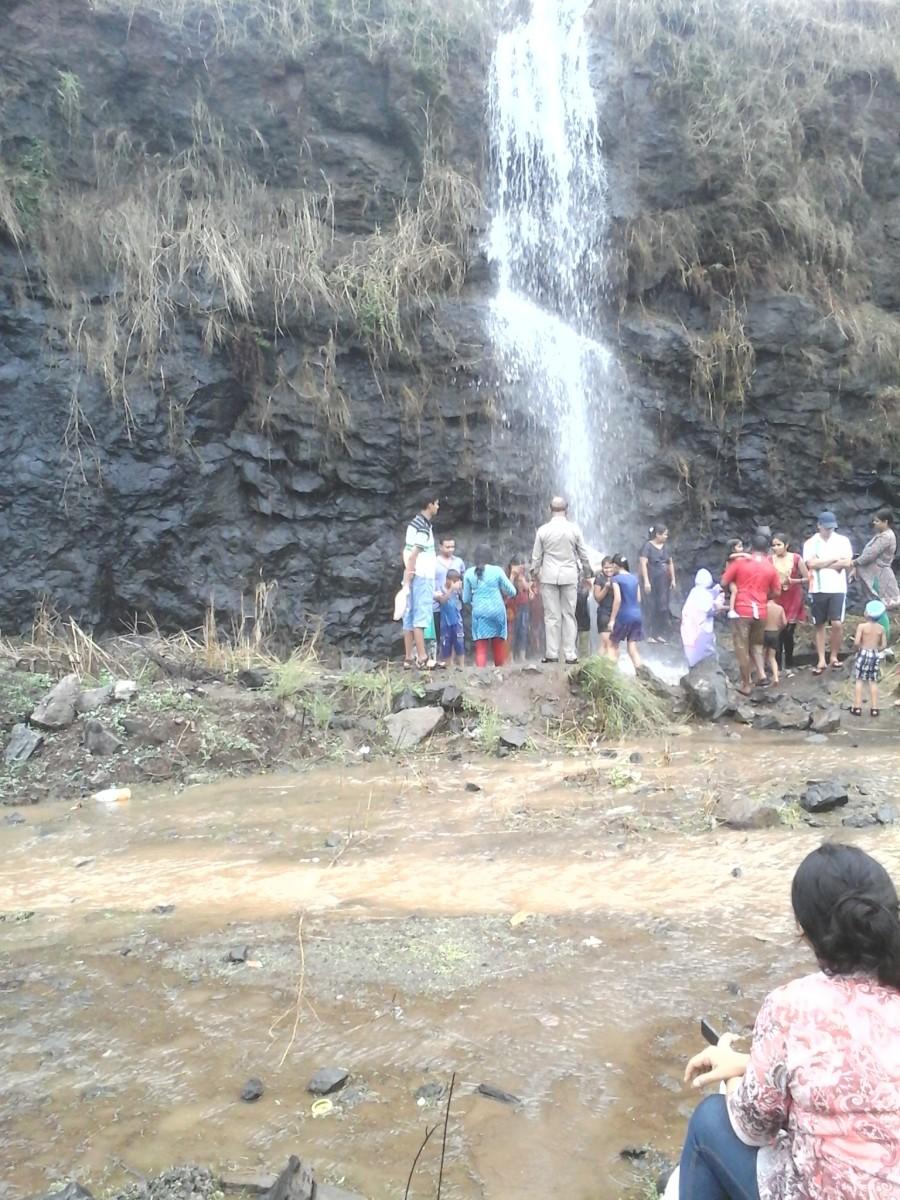 Small water fall during rainy season
