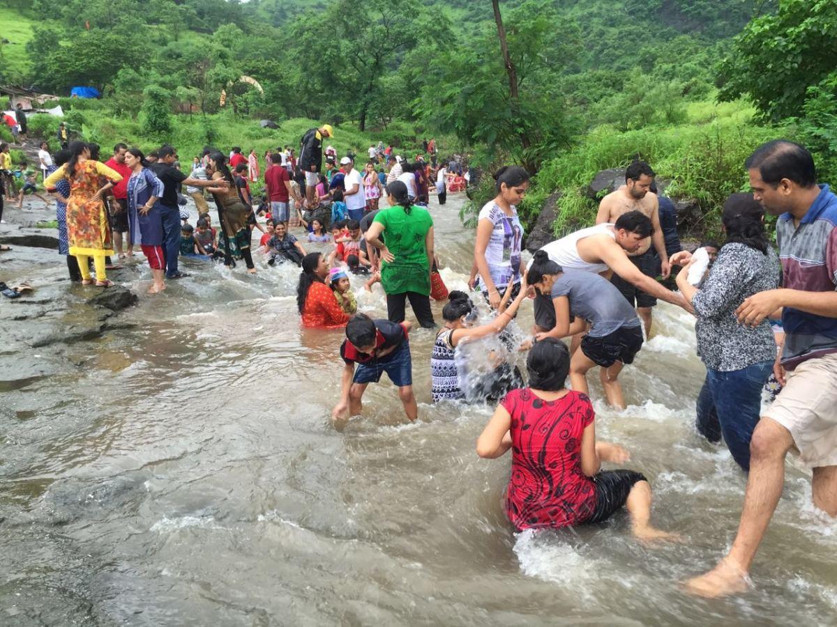 Nearby river during rainy season