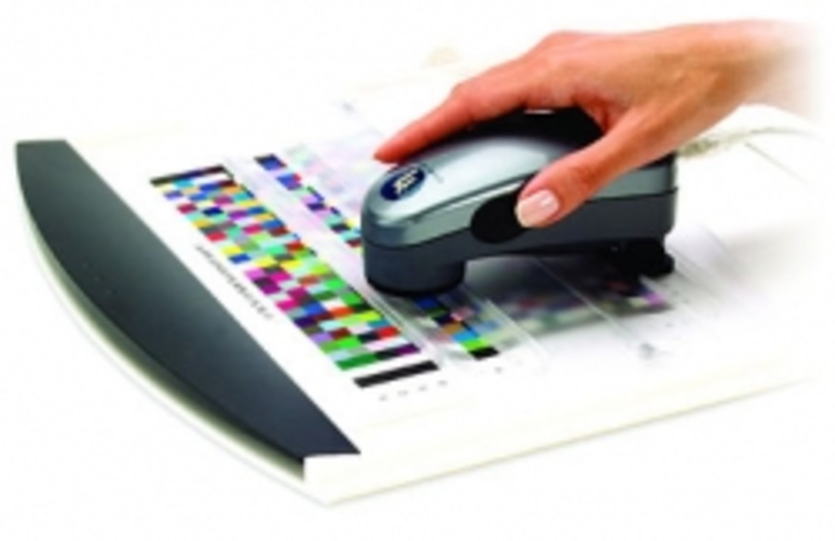 Pantone's hand-held color calibrators allow for spot-on print accuracy