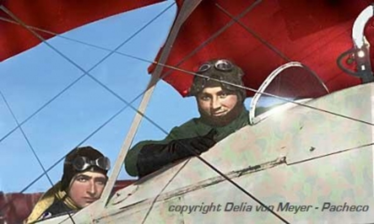 My father & the Red Baron (colorized by a friend)*