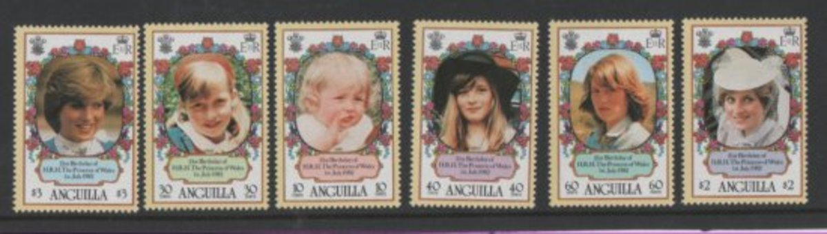 Anguilla: Princess Diana stamps set worth about 3$