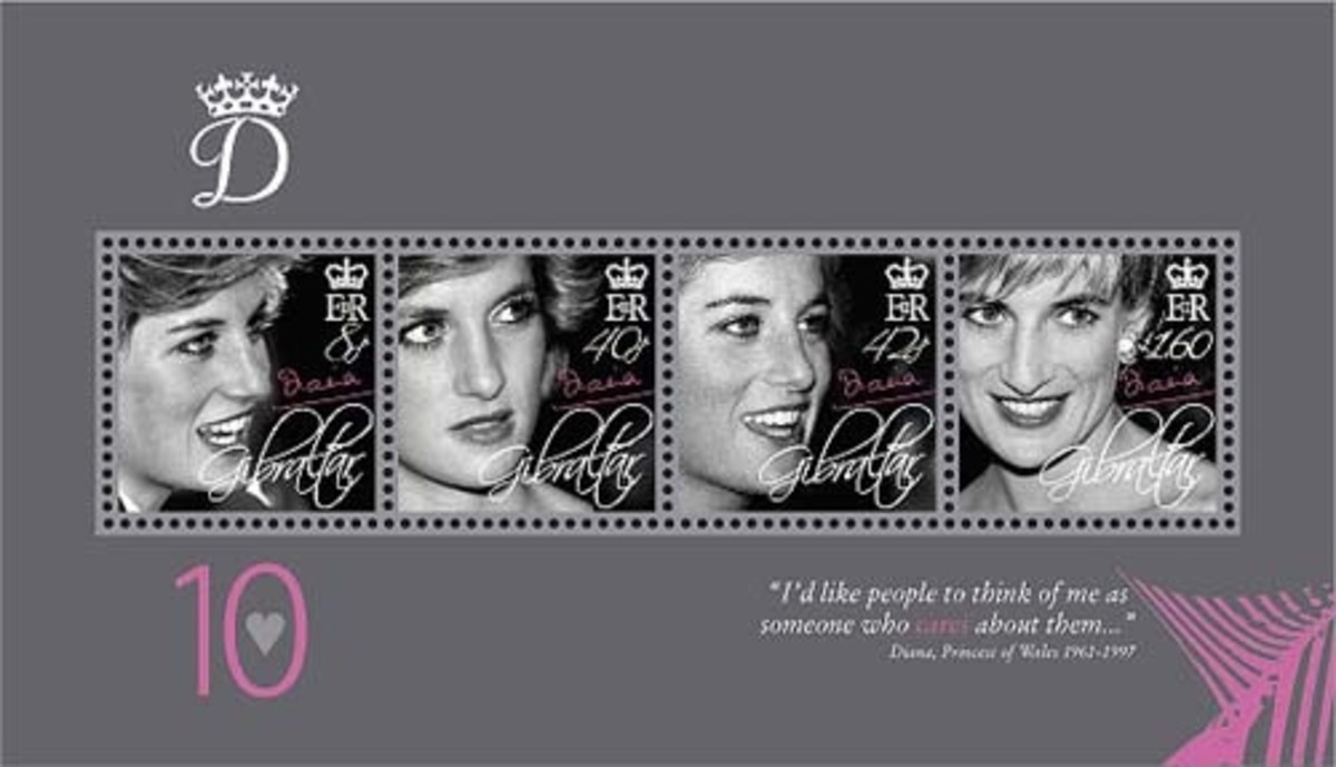 Princess Diana stamps