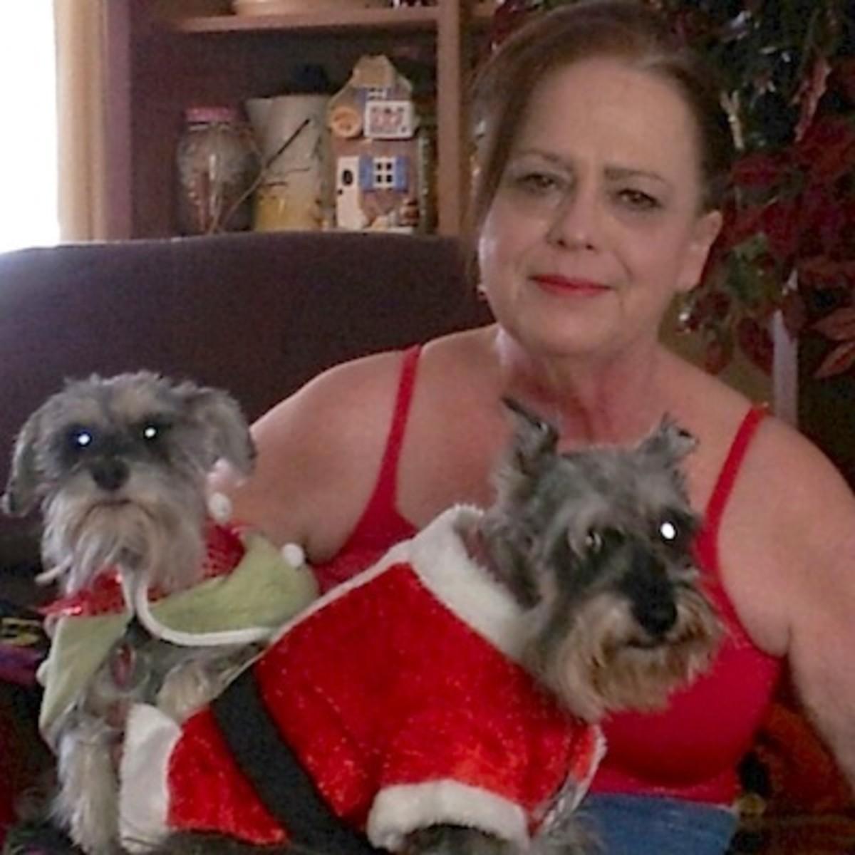 About SheilaSchnauzies, Indie Crochet Designer & Miniature Schnauzer Rescuer