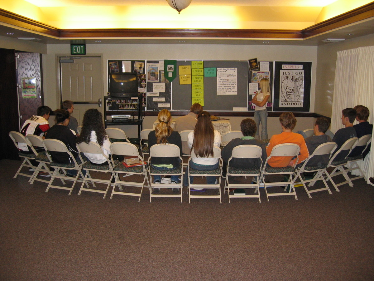LDS Girls and Boys get instruction on Mormon Doctrine in LDS Seminary.