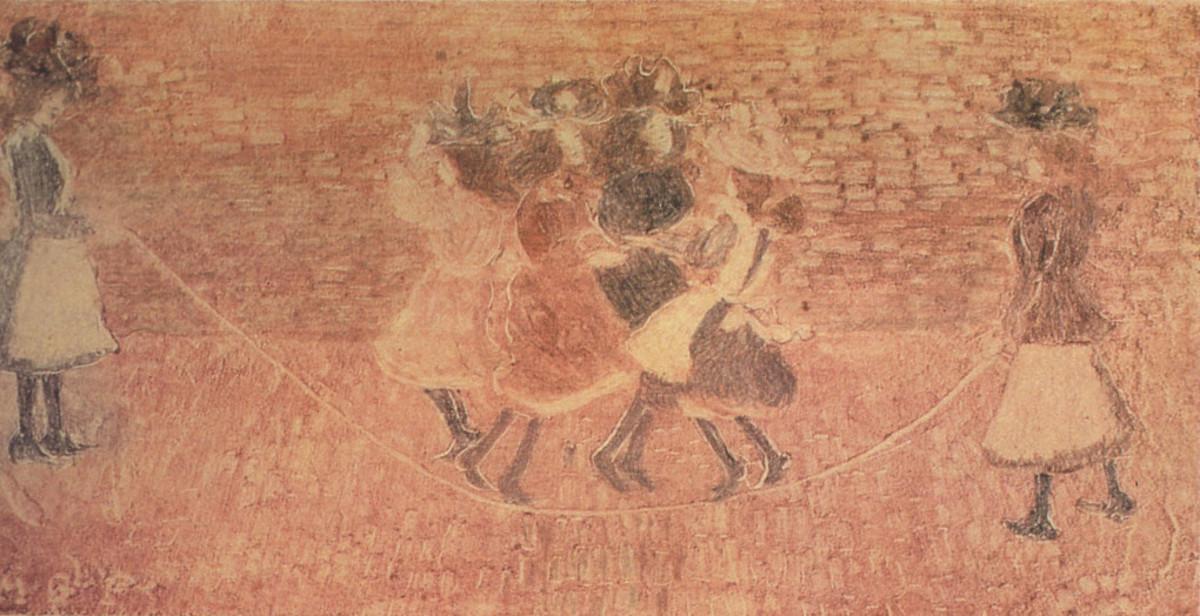 Maurice Prendergast painting: Skipping Rope (1892-1895)
