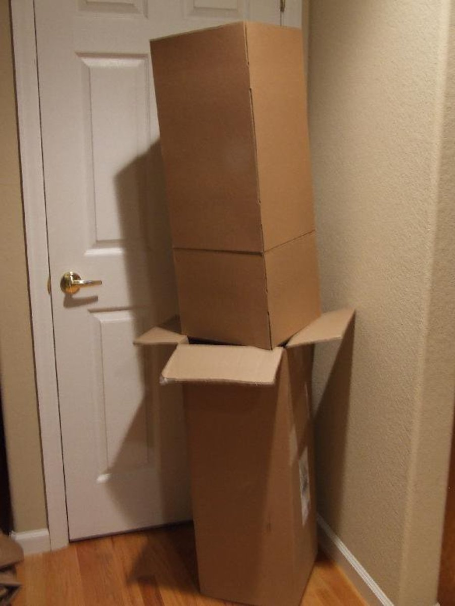 Some boxes ready for new purposes!  Just give the kids a chance .... and get out of the way!