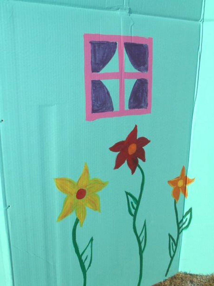 The Flat Panels of Cardboard Boxes Provide Plenty of Room for Artwork!