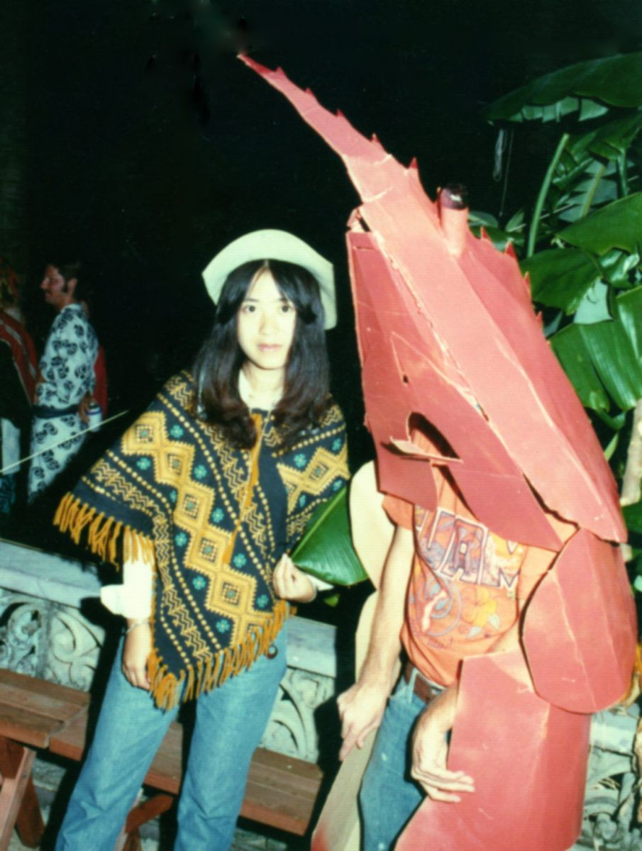 Well, the Shrimp Costume is Made of Cardboard. There Was More of it Until it Rained...