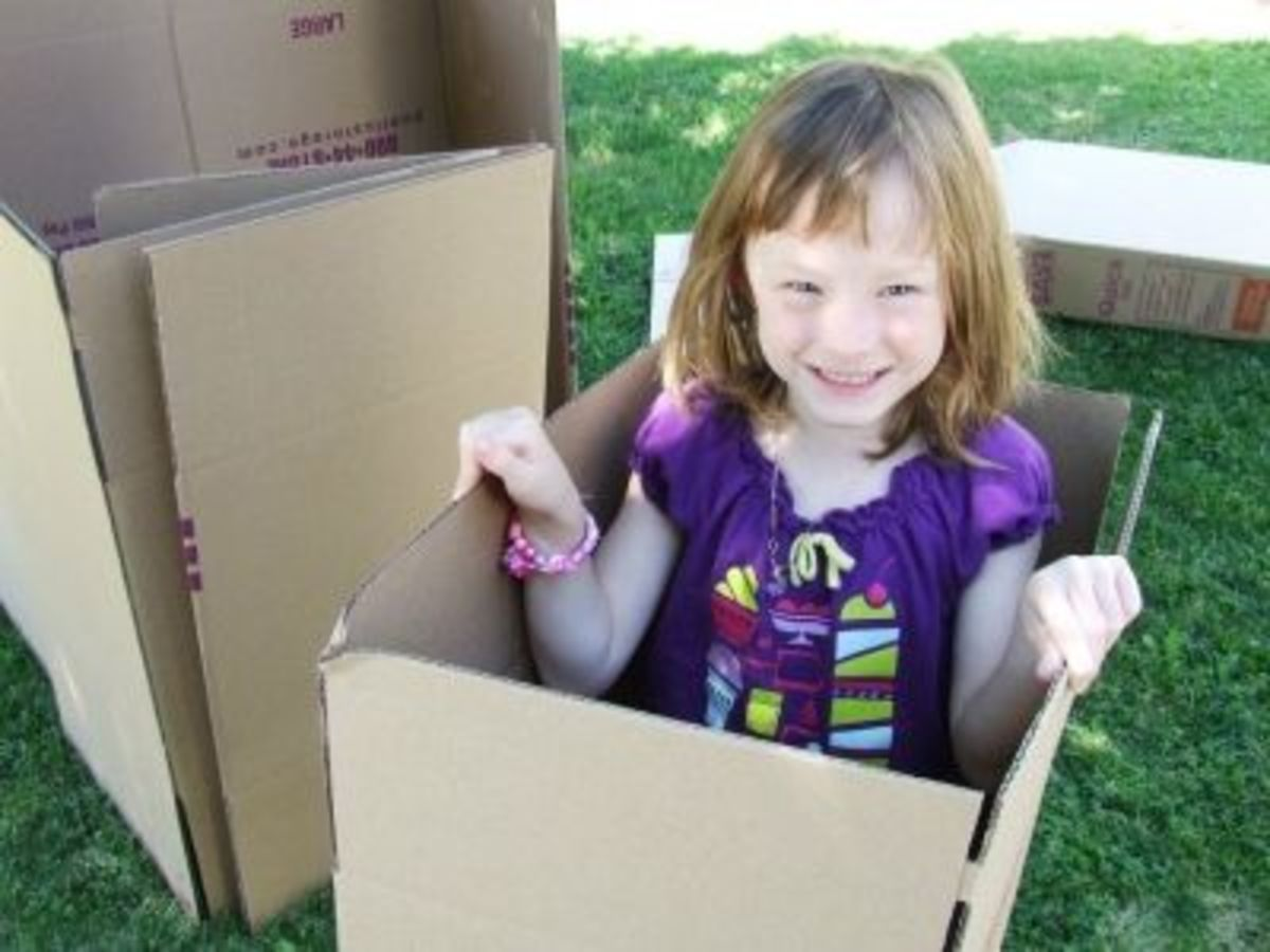 Popping out like a 'jack-in-the-box'? Cardboard box ideas are starting to come around.