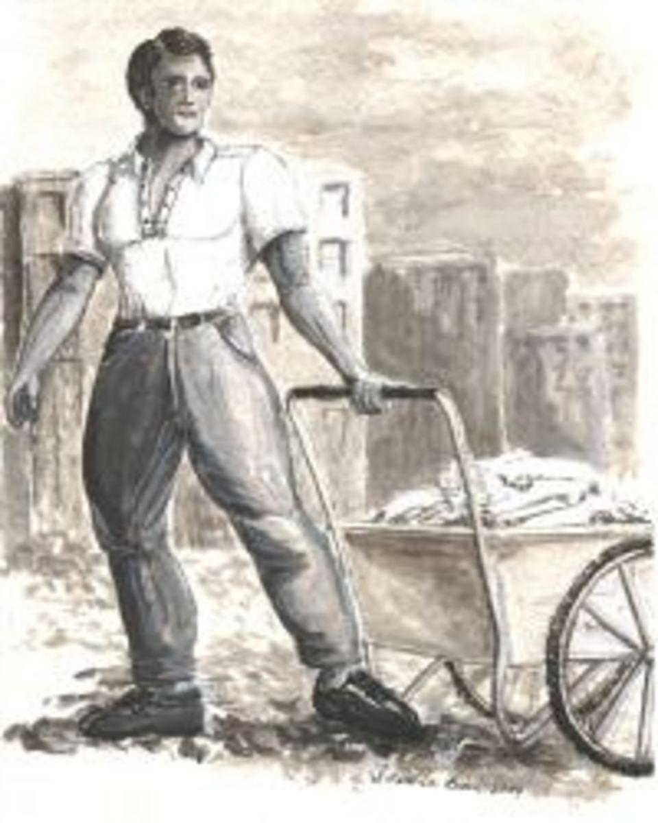 The Rag Man Illustration by Syd Jordan Brown