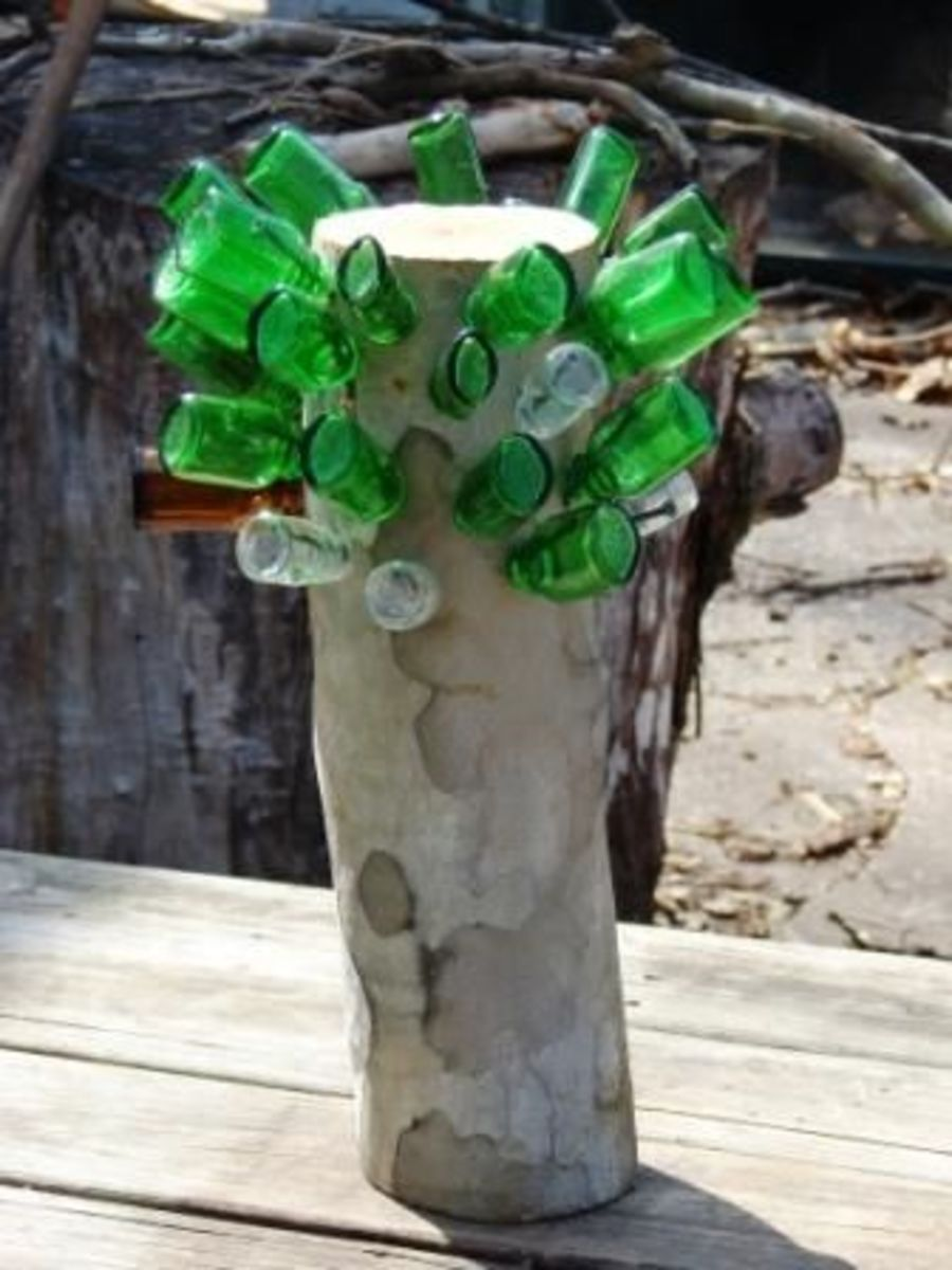 Bottle Tree Stump. Photo copyright Denise Alvarado, all rights reserved worldwide.
